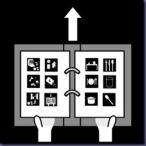 entregar la carpeta con pictogramas